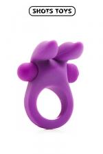 Rabbit Cockring - Shots Toys : Cockring vibrant 100% silicone et super élastique, pour des érections plus longues et une stimulation intense.