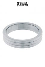 Cockring Ribbed acier - Cockring haute qualité, strié, en acier inoxydable massif. Diamètre intérieur de 40, 45 et 50 mm.