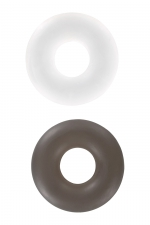 2 bagues d'érection Stud Ring - 2 cockrings Stud Rings nouvelle génération pour mieux gérer la puissance et l'endurance de vos érections, par Toy Joy.