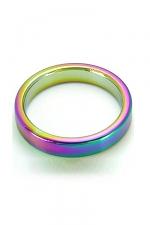 CockRing Rainbow acier - Cockring en acier inoxydable lourd haute qualité, anodisé pour ajouter un effet visuel incomparable.