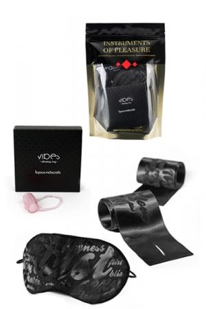 Set Instruments de Plaisir - Rouge - Un pack de 3 accessoires coquins niveau Rouge proposé par Bijoux Indiscrets.