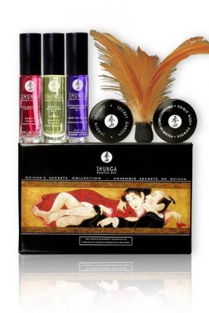Coffret Secrets de Geisha - Shunga : Coffret sign� Shunga pour une soir�e �rotique inoubliable ou un caderau �rotique et sensuel.