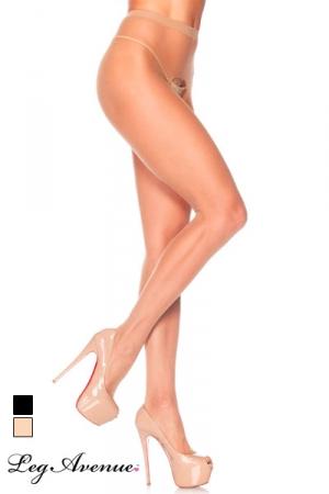 Collants ouverts Basic - Collants voile avec ouverture intime � l'entre-jambes.