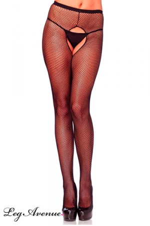 Collant résille ouvert Tentation : Collant sexy en résille largement ouvert à l'entre-jambes. Disponible également en grande taille.