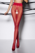 Collants ouverts TI001 - rouge