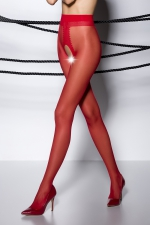 Collants ouverts TI007 - rouge