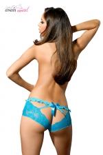 Culotte turquoise Abby - Anaïs - Jolie culotte colorée ouverte à l'arrière au tissu élastique fabriquée en Europe par Anaïs Lingerie.