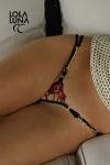 Micro string Gaia - Tulle précieux et broderies flamboyantes pour un micro string plein de sensualité.