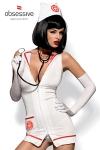 Costume Emergency Dress (avec sth�toscope) - Costume d'infirmi�re tr�s tr�s sexy avec le st�thoscope pour jouer au docteur !