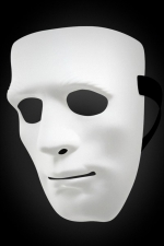 Masque rigide Don Juan - Masque pour homme rigide et blanc qui cache tout le visage, idéal pour cacher votre identité lors de soirées libertines.