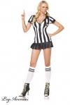 Costume sexy Arbitre - Costume d'arbitre féminin très sexy - et incorruptible, cela va de soi - robe, sifflet, et chaussettes assorties.