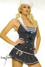 Costume marin Shipment Cutie : Costume sexy comprenant la robe et le chapeau de marin.