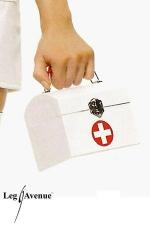 Sac à main Infirmière - Sac à main forme coffret fermé par un crochet, décoré d'une croix premiers sexours.