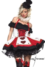 Costume Pretty playing Card : Fin de série : uniquement disponible en XS. Un costume de charme pour joueuse de cartes avertie !