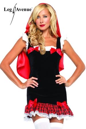 Costume sexy Petit Chaperon Rouge : Il ne vous manque plus qu'un panier de friandises pour attirer les loups gourmands !