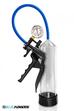 Développeur de pénis avec manomètre - Blue Junker - Pompe à pénis haute qualité avec manomètre et valve de décompression rapide, le must pour augmenter la taille de votre verge.