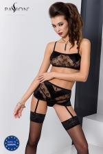 Ensemble lingerie Petra - Noir : Ensemble sexy lingerie fantaisie, avec soutien-gorge, porte-jarretelles et string.