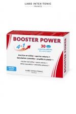 Aphrodisiaque masculin Booster Power (30 comprimés) - Aphrodisiaque masculin 4 en 1 : améliore l'érection, augmente le volume de sperme, contrôle l'éjaculation, accroit le plaisir (boite de 30 comprimés).