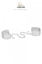 Menottes / Bracelets en chainettes métalliques argentées
