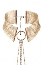 Collier désir métallique doré