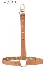 Jarretières marrons - Maze : Une paire de jarretières en matière 100% Vegan, couleur marron, à porter sur ou sous vos vêtements.