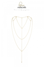 Chaine dos et décolleté dorée - Chainettes dorées, collection Magnifique,  à porter comme accessoire de mode ou comme accessoire érotique, à vous de décider.