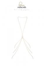 Chaine de corps en 8 dorée - Des chaines corporelles en forme de 8 à porter avec vos looks préférés, de la lingerie ou à même le corps, collection Magnifique par Bijoux Indiscrets.