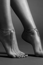 Chaines argentées pour les pieds - Chainettes de pieds en métal argenté pour mettre en valeur vos chevilles et le dessus des pieds, collection Magnifique de Bijoux Indiscrets.