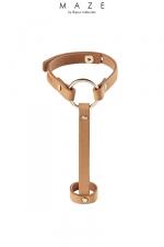 Bracelet bague marron - Maze - Un bracelet / harnais pour les mains, 100% Vegan, pour donner une touche incroyable à vos tenues.