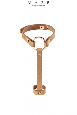 Bracelet bague marron - Maze