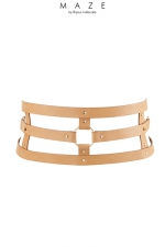 Ceinture et menottes marron - Maze - Une merveilleuse ceinture 100% Vegan, qui se transforme en accessoire de contrainte: ceinture, menottes et laisse.