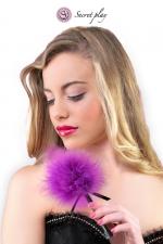 Plumeau 18 cm violet - Petit plumeau coquin pour affoler ses sens avec de douces caresses par Secret Play.