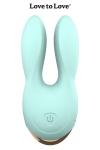 Double stimulateur Hear Me - bleu - Un design élégant, une couleur glossy, de grandes oreilles contenant chacune un moteur ultra puissant…