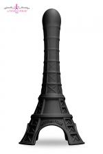 Gode La Tour Est Folle - noir - Un gode fun et original en forme de Tour Eiffel stylisée, en silicone soft touch haute qualité. Coloris noir.