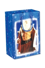 Sac cadeau sexy - Un joli sac cadeau avec un Père Noel très coquin en illustration !
