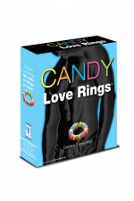 Candy love rings - 3 cockrings en bonbon pour des préliminaires sucrés.