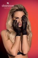 Gants noirs Lustella - Obsessive : Avec cette paire de gants en résille, ajoutez la petite touche sexy qui sublimera votre tenue.