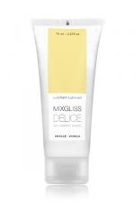 Mixgliss eau - Délice Vanille 70ml - Lubrifiant intime embrassable à l'arôme naturel de vanille.