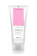 Mixgliss eau - Sweet Bubble Gum 70ml - Lubrifiant intime à base d'eau à la fragrance pétillante de bubble gum.
