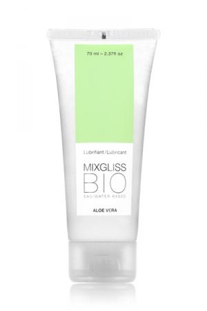 Mixgliss eau - Bio Aloe Vera 70ml - Le plaisir nature - un lubrifiant intime aux notes végétales d'aloe vera bio et de rose.
