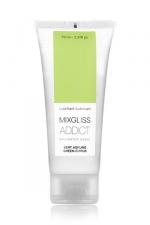 Mixgliss eau - Addict Vert agrume 70ml - Lubrifiant intime au parfum délicat et enivrant. Attention: ce gel est extrêmement sensuel!
