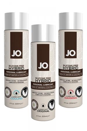 Lubrifiant Jo hybrid sans silicone - 120 ml - A base d'eau et d'huile de noix de Coco, ce lubrifiant hybride est un