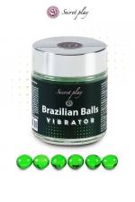 6 Brazillian balls effet vibrator - La chaleur du corps transforme la brazilian ball en liquide glissant avec effet stimulant, votre imagination s'en trouve exacerbée.