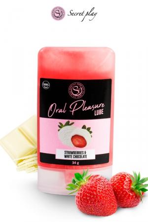 Lubrifiant comestible fraise & chocolat blanc