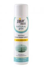 Lubrifiant Pjur Med Natural Glide 100ml - Gel lubrifiant intime naturel haute qualité spécial peaux sèches, hydratant et doux, très glissant, à base d'eau.