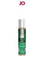 Lubrifiant aromatisé menthe 30 ml - Lubrifiant aromatisé comestible parfum menthe au format 30 ml de la marque Américaine System Jo.