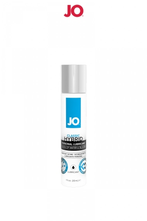 Lubrifiant hybride 30 ml - Lubrifiant hybride composé de silicone et d'eau sans parabène ni glycérine qui offre une lubrification de qualité dans le confort et la durabilité. 30 ml, fabriqué aux USA.
