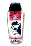 Lubrifiant Toko Aroma - cerise flambée - Lubrifiant intime à base d'eau, aromatisé à la cerise flambée, pouvant être léché, par Shunga, le spécialiste du plaisir intime.