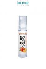Lubrifiant Liquid Vibrator Pêche 10ml - Amoreane Med - Gel lubrifiant médical à base d'eau avec effet vibrant, parfumé à la  pêche, par Amoréane Med, flacon voyage de 10 ml.