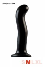 Dildo point P et G taille M - Strap On Me - Gode 100% silicone hommes et femmes, taille M, conçu pour stimuler le point G ou le point P, compatible harnais Strap-On-Me.